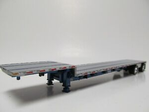 Dcp 1 64 Scale Transcraft Step Deck Trailer Silver Deck With Blue Frame