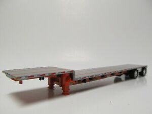 Dcp 1 64 Scale Transcraft Step Deck Trailer Silver Deck With Orange Frame
