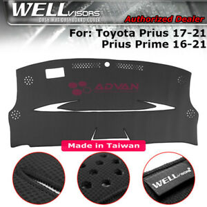 Dash Mat Cover Black For Toyota 17 20 Prius Prime Wellvisors 3 886ty009