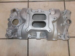Edelbrock 2101 Performer Series Intake Manifold Non Egr Rpm For Chevy Small Bloc