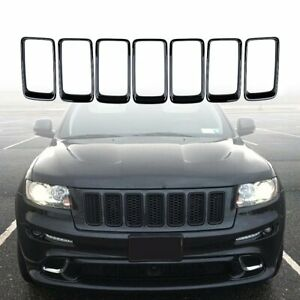 Front Upper Grille Inserts For Jeep Grand Cherokee 2014 2016 grill Ring Black
