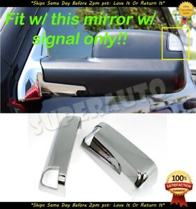 Fits 2010 2018 Dodge Ram 1500 Tow Chrome Side Mirror Cover W Towing Signal