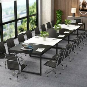 Modern Executive Table 12 Seats Meeting Desk Office Furniture With Metal Base