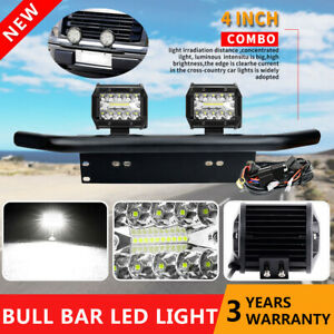 2x 4 Cree Led Work Light Bar License Number Plate Frame Mount Bracket Wire