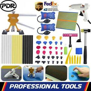 Us 67x Pdr Paintless Dent Removal Puller Lifter Line Board Hail Repair Tools Kit