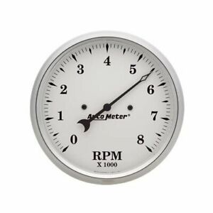 Autometer Old Tyme White Series Tachometer 0 8 000 5 Dia In dash White Face