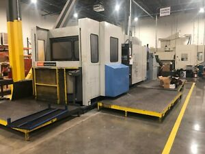 1998 Mazak Fh 680 Cnc Horizontal Mill Machining Center Mazatrol M Plus Control