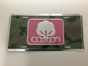 Seal Of Cotton Metal Car Tag License Plates Camo Pattern Logo Color Pink