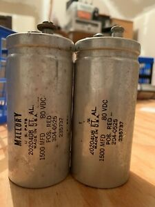Mallory 1500mfd Electrolytic Capacitor 80 Vdc
