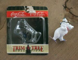 Coca Cola Trim A Tree Collection Christmas Ornament Polar Bear Baby Snowshoeing