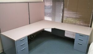 Steelcase Office Desk W partitions Office Moving Sale