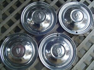 Vintage 51 52 Plymouth Fury Belvedere Satellite Hubcaps Wheel Covers Center Caps