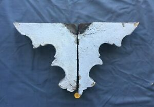 Small Pair Antique Wood Porch Corbels Shabby Vtg Chic Shelf Brackets 446 19j