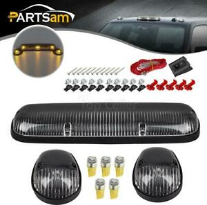 3xclear Cab Roof Running Lamps 5050 Amber Led T10 For Chevy Silverado gmc Sierra