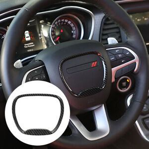 Steering Wheel Trim Emblem Kit Decal Sticker Cover For 2014 2019 Dodge Durango