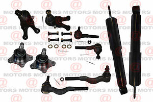 For Mitsubishi Montero Sport 97 99 Front Shocks Ball Joints Tie Rods Inner Outer