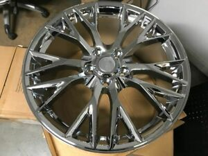 Set Of Four C7 Z06 Style Chrome Rims Wheels Fits Corvette C7 19 20 Staggered