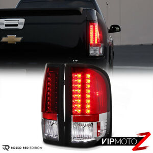 error Free For 07 13 Chevy Silverado 1500 2500hd 3500hd Red Led Tail Lights