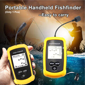 Fish Finder 100M LCD Alarm Sonar Depth Sensor Portable Fishfinder Transducer NEW