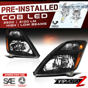 cree Led Bulb Installed For 06 09 Prius Black Replacement Headlight Assembly