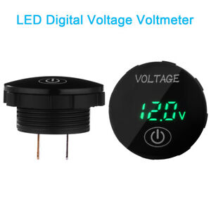 Led Voltmeter Car Motorcycle Voltage Digital Display Gauge Touch Switch Ma2130