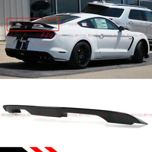 Glossy Black Gt500 Gt350 Style Trunk Spoiler Wing For S550 15 2020 Ford Mustang