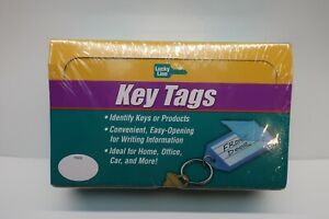 Lucky Line 20400 Id Key Tag With Ring Clear 100 Count Sealed Display Box