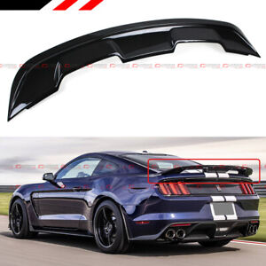 For 2015 2020 Ford Mustang Gt350 Gt500 Style Abs Glossy Black Trunk Spoiler Wing