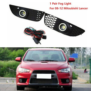 For 08 12 Mitsubishi Lancer Fog Lights Lamp New Bumper Driving Clear Wiring