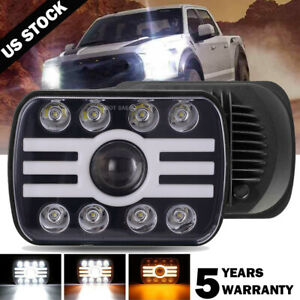 7x6 5x7 Inch Led Headlight w Drl Turn Signal Lamp For Nissan Pickup Truck