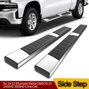 For 2019 2020 Silverado sierra Crew Cab 6 Running Board Nerf Bar Side Step Ss
