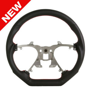 Handkraftd 07 13 Chevy Silverado Suburban Steering Wheel Black W red Stitch