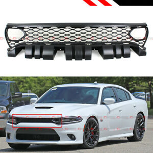 For 2015 2020 Dodge Charger Rt Scat Pack Srt Style Front Mesh Grille W Air Duct