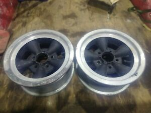 Vintage Pair 14x6 Keystone Cragar Torque Thrust Style 5 Spoke 4 3 4 Chevy Gm