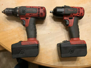 Snap On Cordless 3 8 Impact And 1 2 Drill Battery Lithium