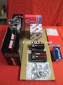 Chevy 454 Engine Kit 30cc Dome Pistons moly Rings bearings gaskets For Stage 3