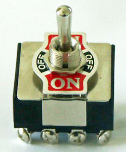 Toggle Switch 4pdt Center Off 20 Amp 125 Vac K403 On off on