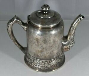 Antique Hartford Victorian Gothic Silver Teapot Coffee Tea Pot Very Nice