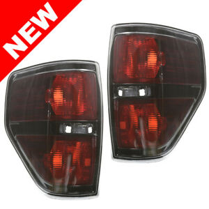 2009 2014 Ford F 150 Svt Raptor Black Tail Lights Left Right Replacement Set