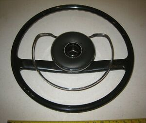 1967 250s Mercedes Benz Black Steering Wheel With Horn Ring And Pad Used Oem