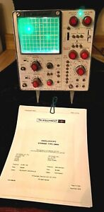 Vintage telequipment Tektronix Oscilloscope Storage Type Dm64 1973 Working