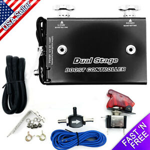 Dual Stage Electronic Boost Controller Kit Manual Psi Adjustment W switch 1 30ps