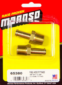 Moroso 65380 Fitting Fuel Hose 3 8 Npt To 3 8 Hose Brass Fittings