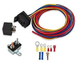 Mr Gasket 40220g Single Electric Fan Harness Relay Kit Manually Controlled 30
