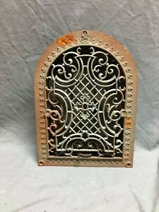 Antique Arched Top Heat Grate Gothic Maltese Cross Arch 9x12 Vtg 31 20b