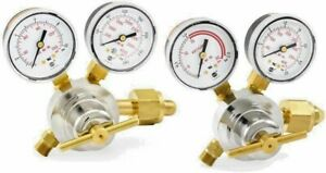 Set Of Genuine Smith Oxygen Acetylene Regulators Medium Duty Brand New Htp5