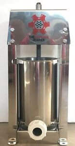The Sausage Maker Stainless Sausage Stuffer 5 Pounds New Open Box save