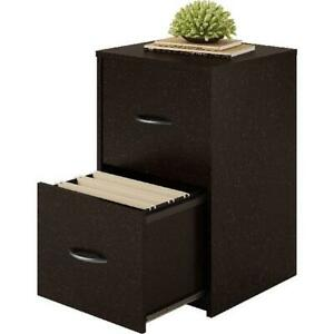 Ameriwood Home Core 2 Drawer Wooden File Cabinet Lockable Espresso Finish