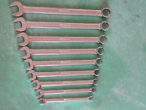 Snap On Oex709a 9 Pc Sae Wrench Set 3 8 7 8 Oex12a Oex28a Ships Free Nice