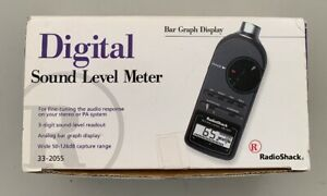 Radioshack 33 2055 Digital Sound Level Meter With Box Manual Case